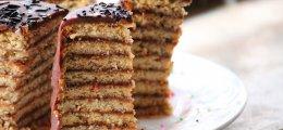 Tarta de galletas con mermelada